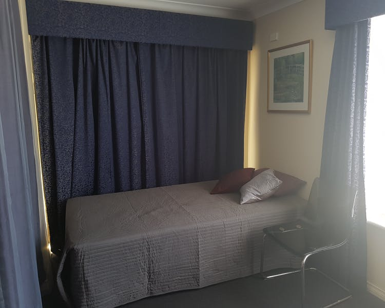 Room 1 King Single bed for your extra guest