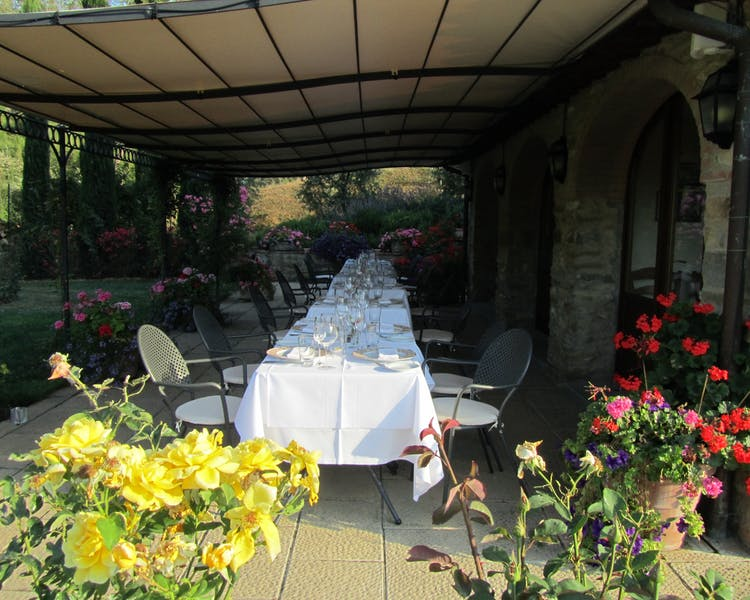 Casa Portagioia,  dining a special evening in Tuscany