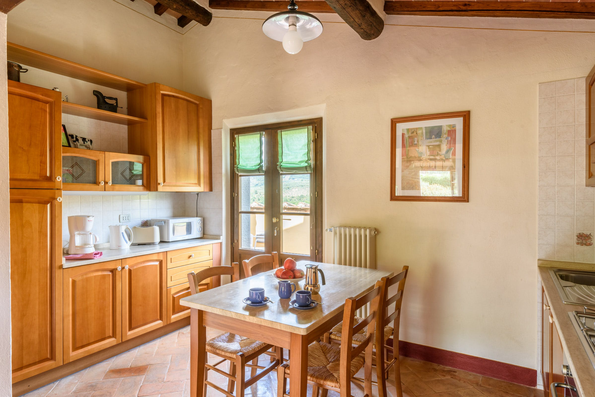 Casa Portagioia Tuscany bed and breakfast ,Funghini suite with double bedroom Kitchen area