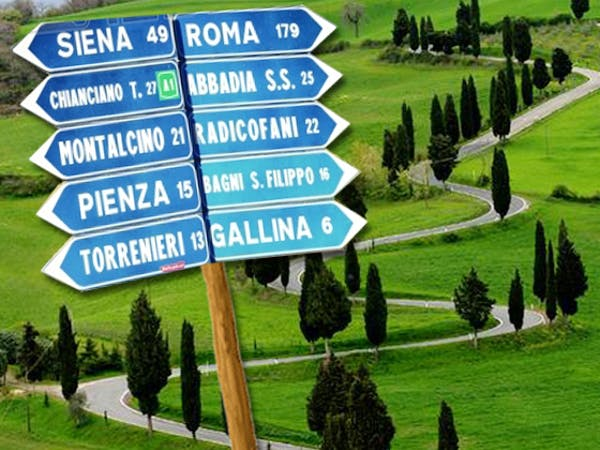 Casa Portagioia,  Road signs of Tuscany