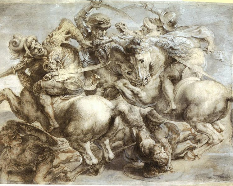 The Battle of Anghiari (1505) is a lost painting by Leonardo da Vinci,