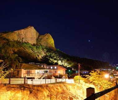 Castle Hill at night