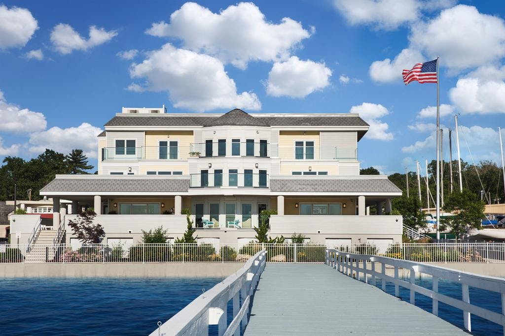 Our historic building located directly on Manhasset bay