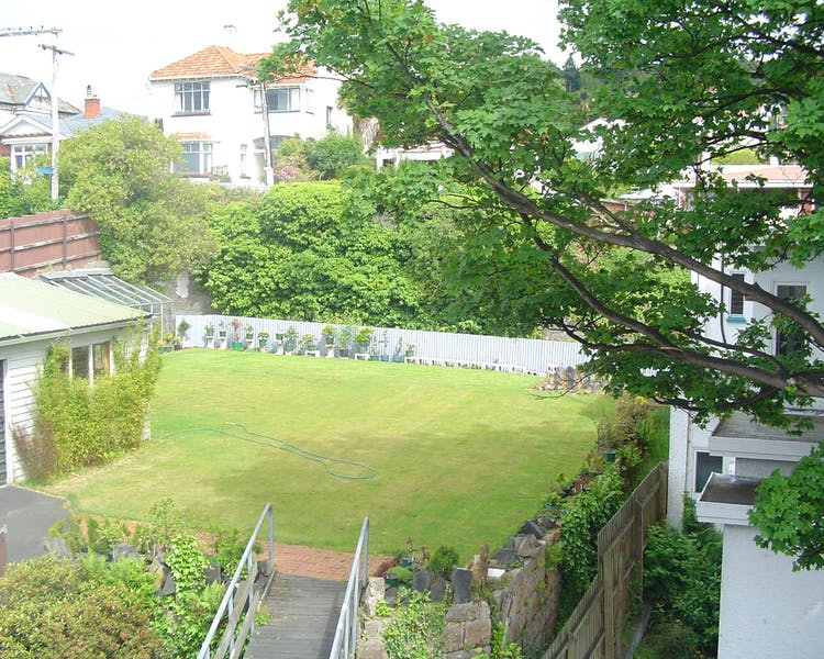 The back garden is now our car park The Brothers Boutique Hotel Heritage building Brothers Hotel Dunedin
