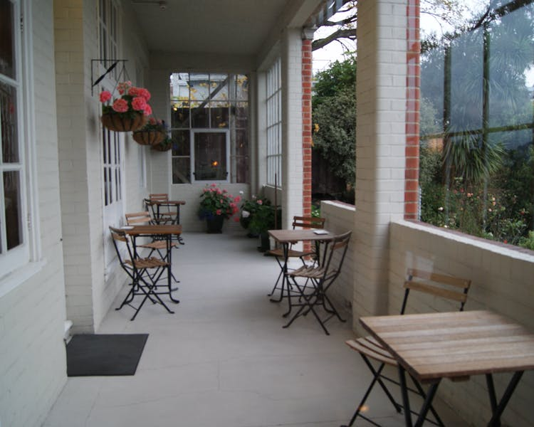 The Brothers Boutique Hotel  Heritage building Brothers Hotel Garden alfresco breakfast Dunedin