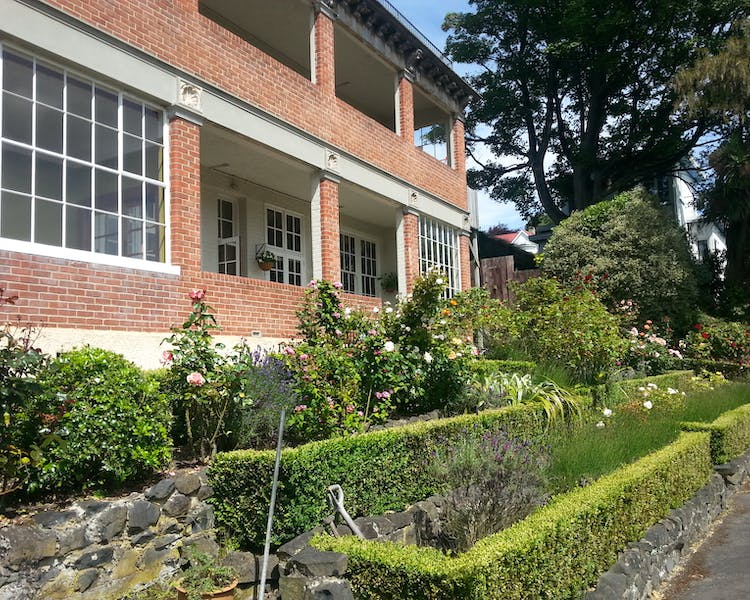 The Brothers Boutique Hotel Heritage building Brothers Hotel Garden formal garden Dunedin