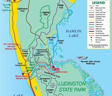 Ludington State Park - Trail and walkway map