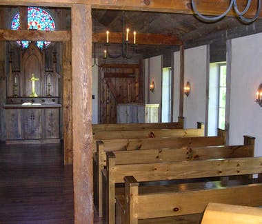 Historic White Pine Village - Chapel Interior