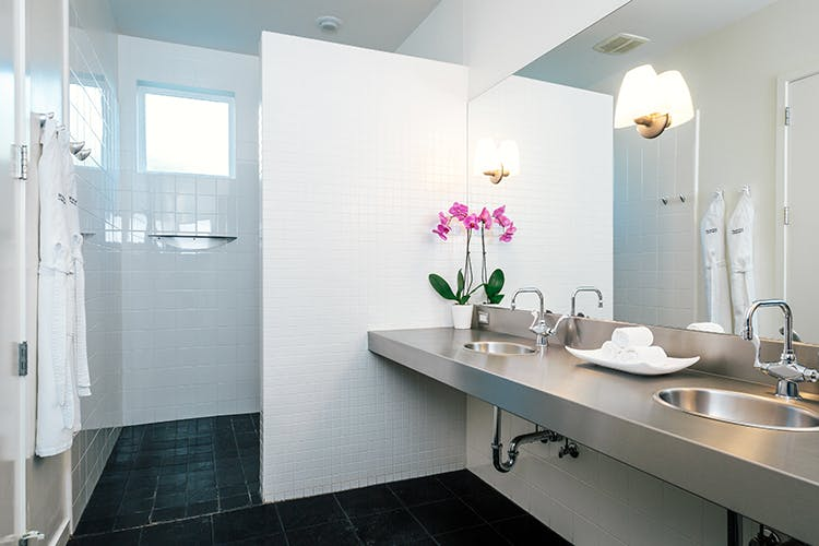 Our over-sized vanity afford you the luxury of easy access to all your toiletries.