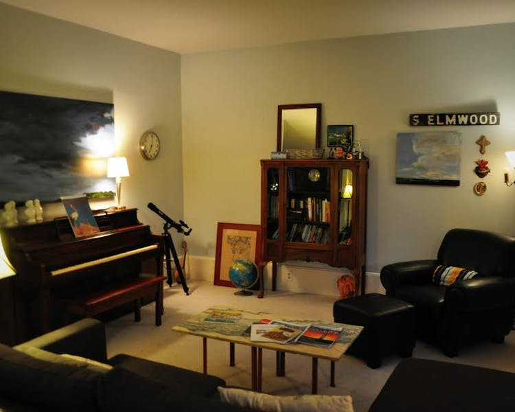 Living room and piano