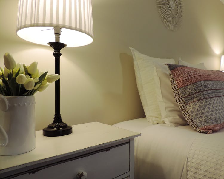 Homely touches in the townhouse bedroom