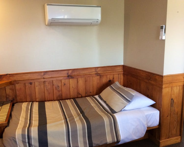 Heated and air conditionied cosy cabins