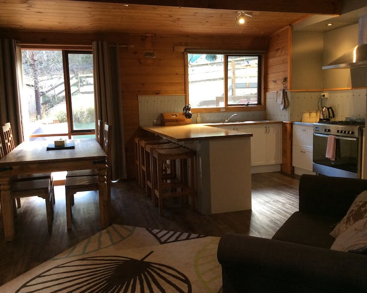 Large kitchen in Trapper Lodge
