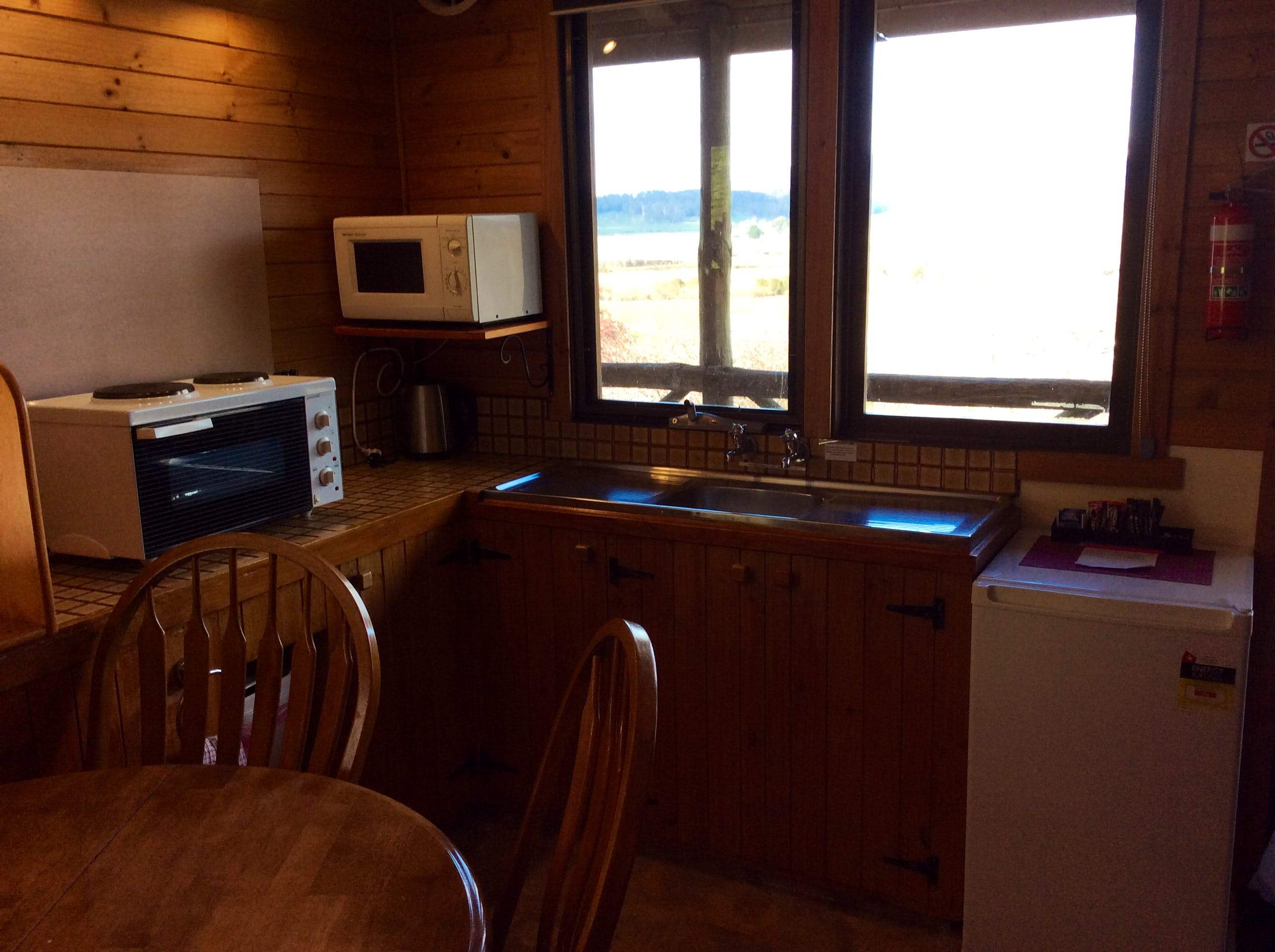 Kitchens in all cabins