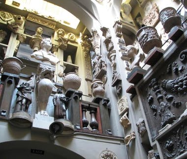 The interior of the John Soane Museum