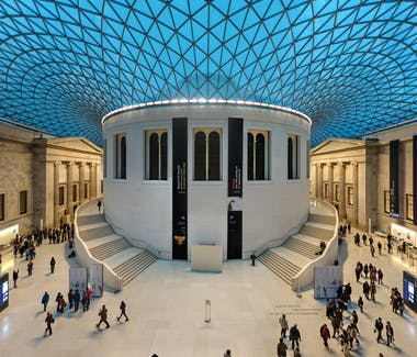 The interior court of the British Museum