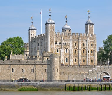 The exterior of the Tower of London