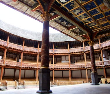 The interior of the Globe Theatre