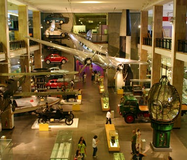 The interior of the Science Museum