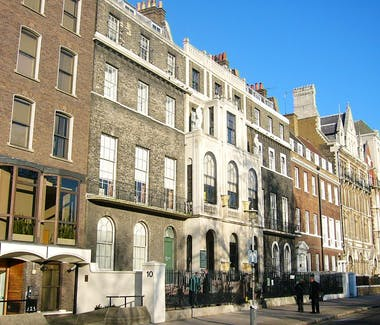 The facade of the John Soane Museum