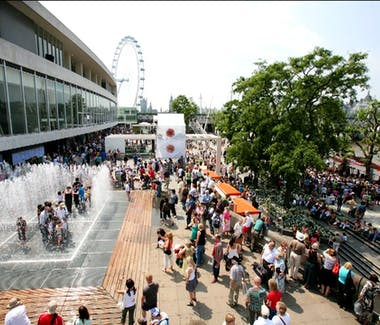 The riverside terrace at the Southbank Centre