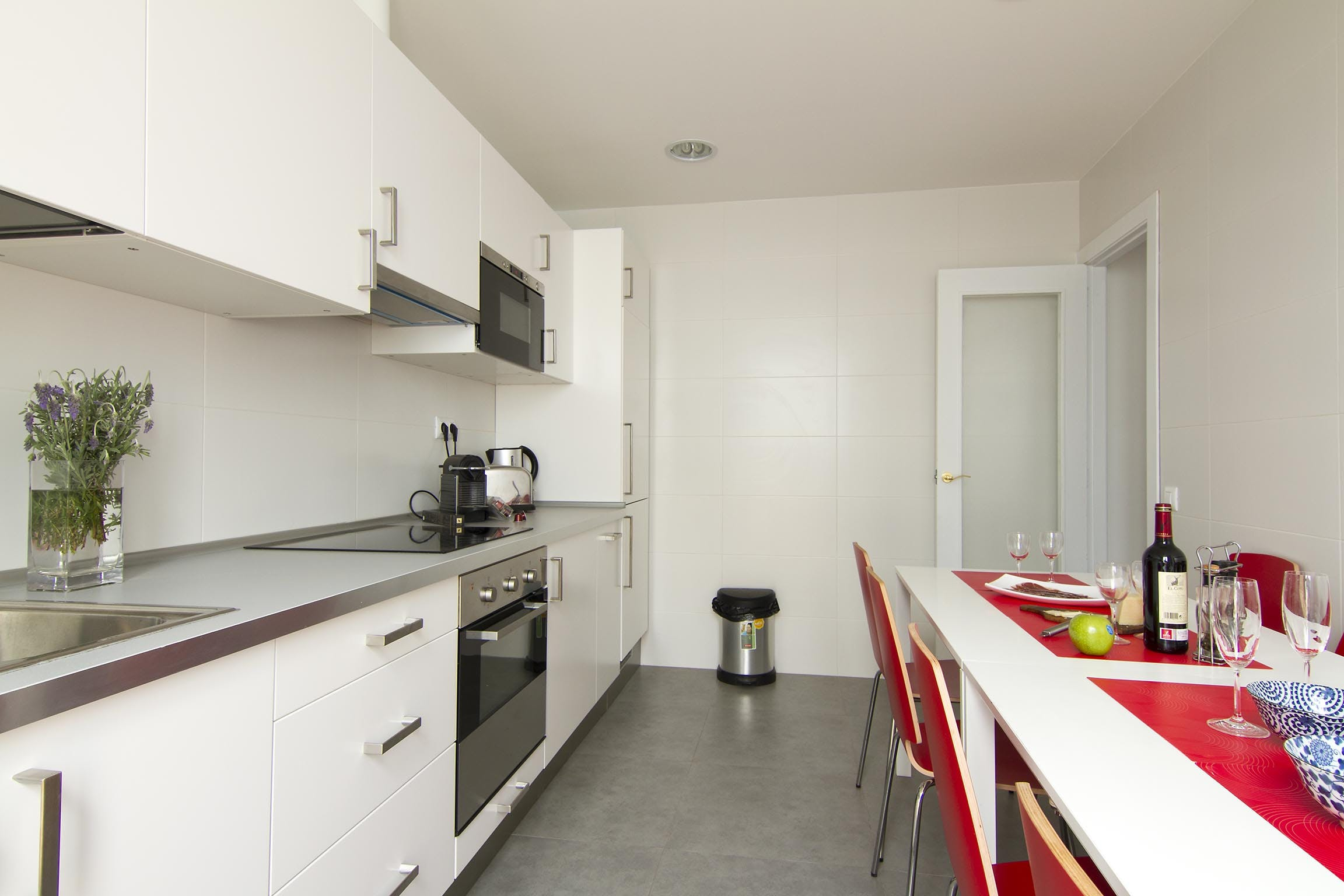Three-Bedroom apartment kitchen