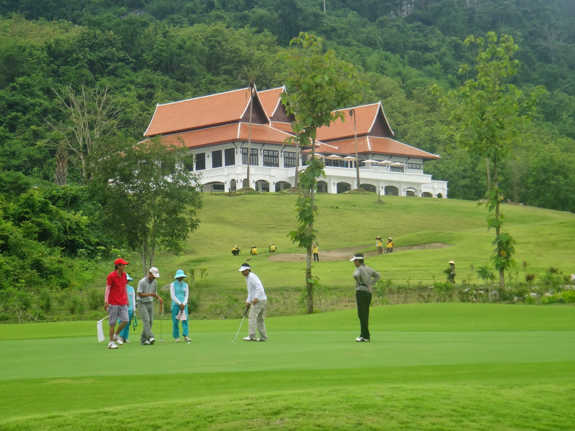 Luang Prabang golf course club house restaurant Laos championship