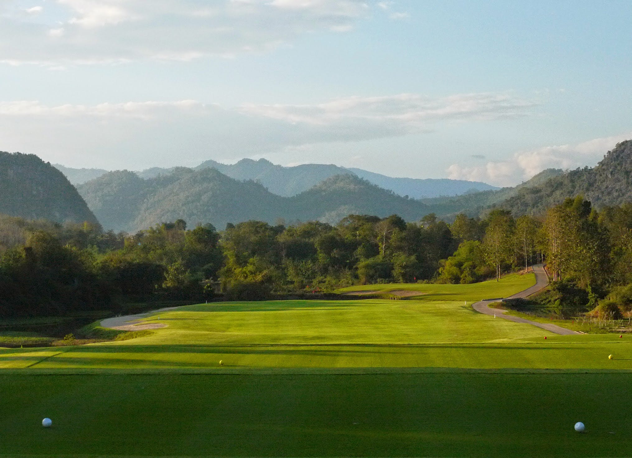 Luang Prabang golf course fairway hole