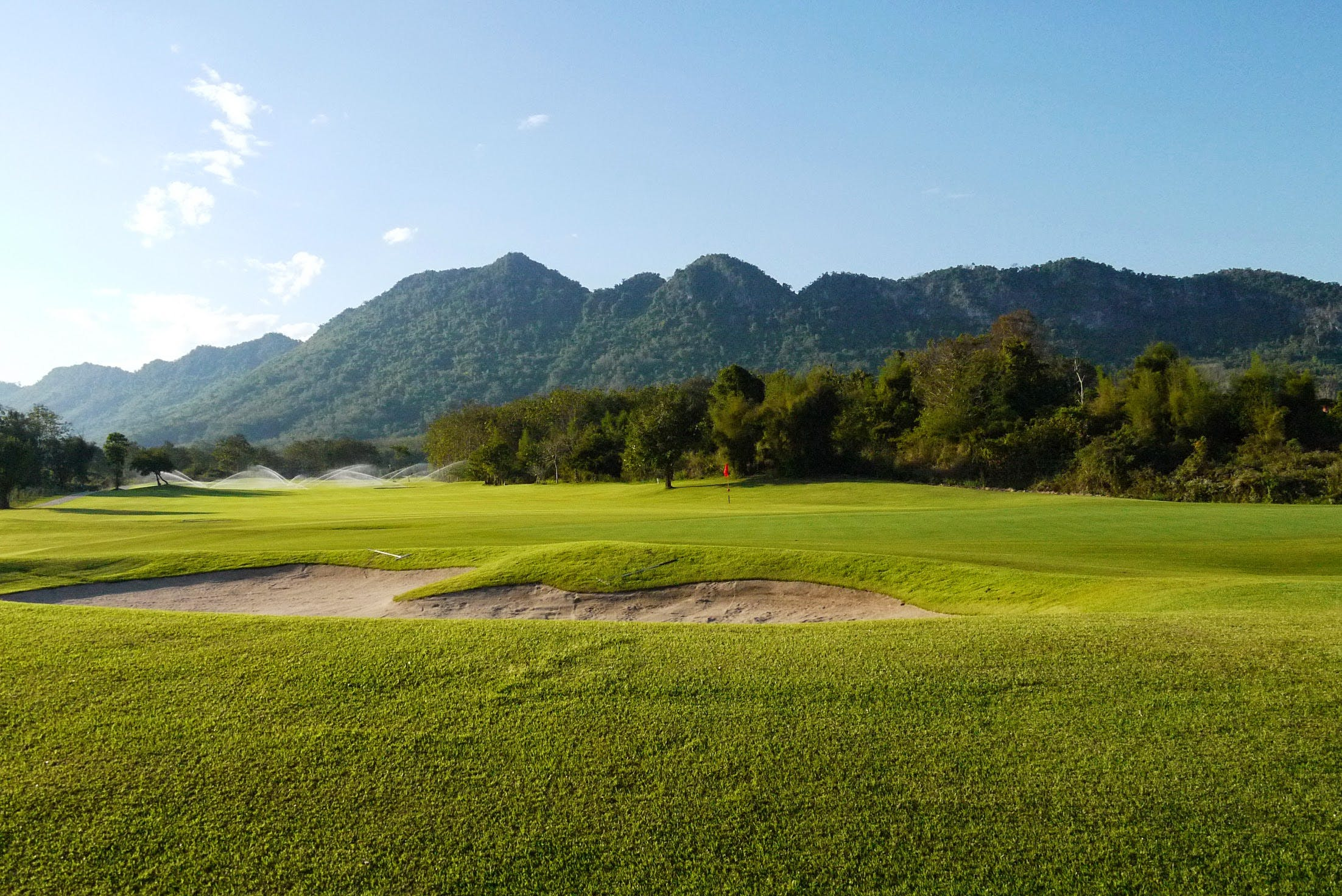 Luang Prabang golf course views