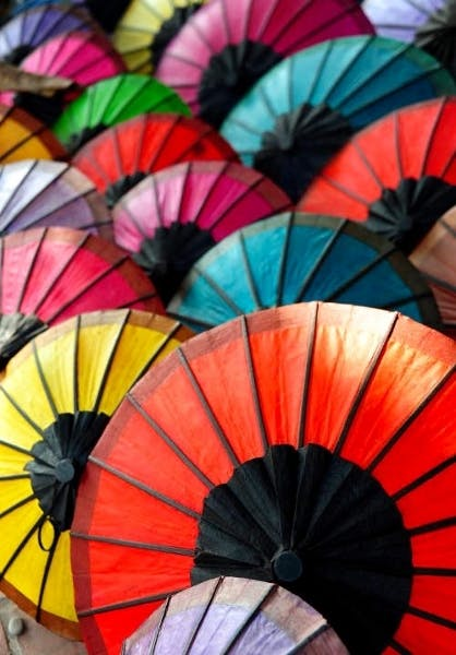 Luang Prabang night market umbrellas