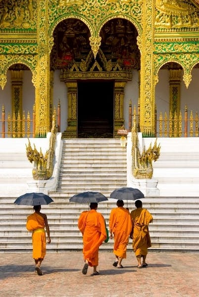 Luang Prabang Wat Xiengthong Buddhist Monks