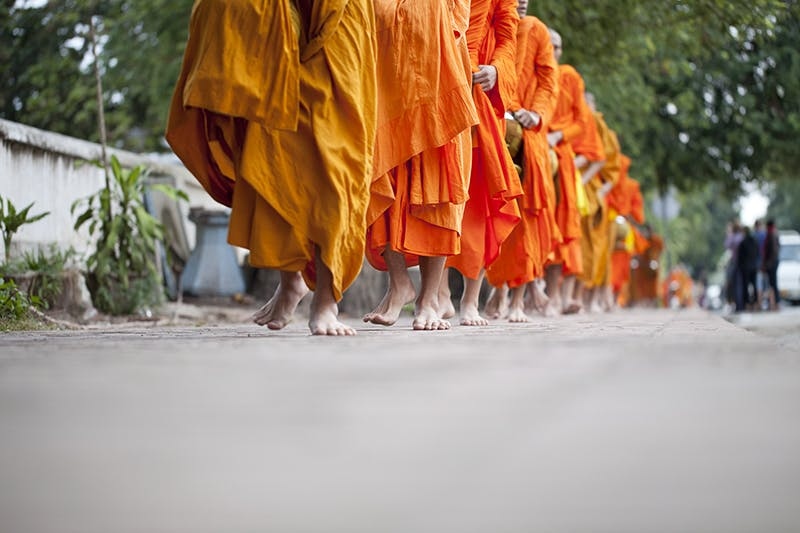 Luang Prabang monks alms giving tak bat