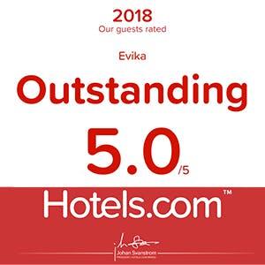 Hotels.com OUSTANDING 5.0 award