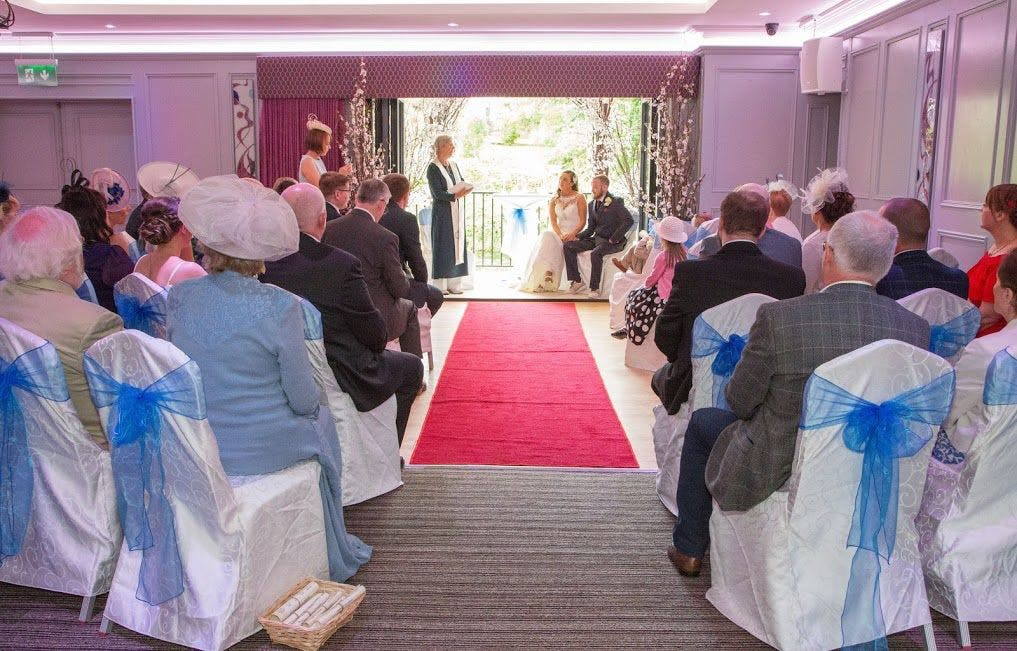 A stunning wedding ceremony held in The Forde Room, overlooking the River Garavogue.