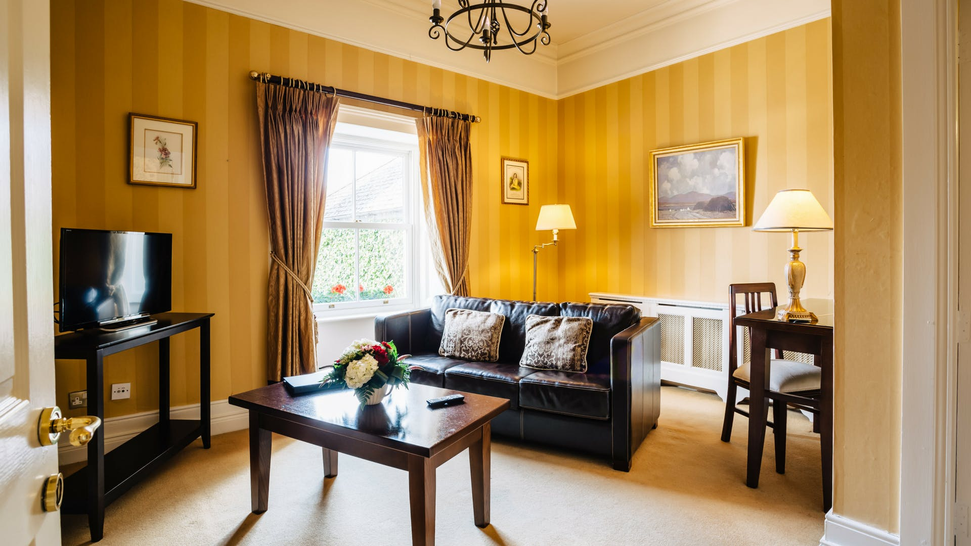Living area in the Junior Suite at Gleesons Restaurant & Rooms, Roscommon