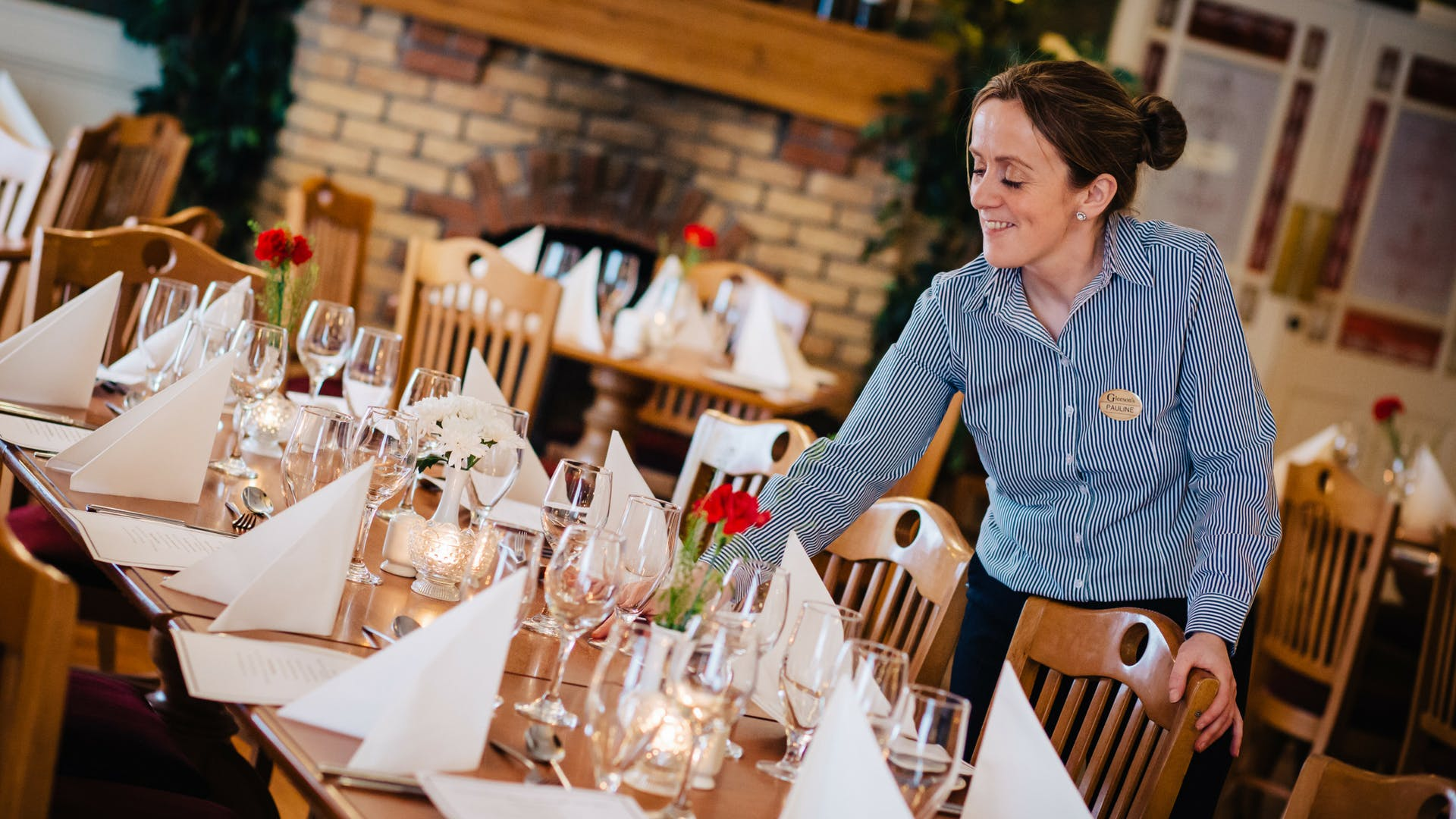 Friendly, helpful service with a smile at Gleesons Restaurant & Rooms, Roscommon