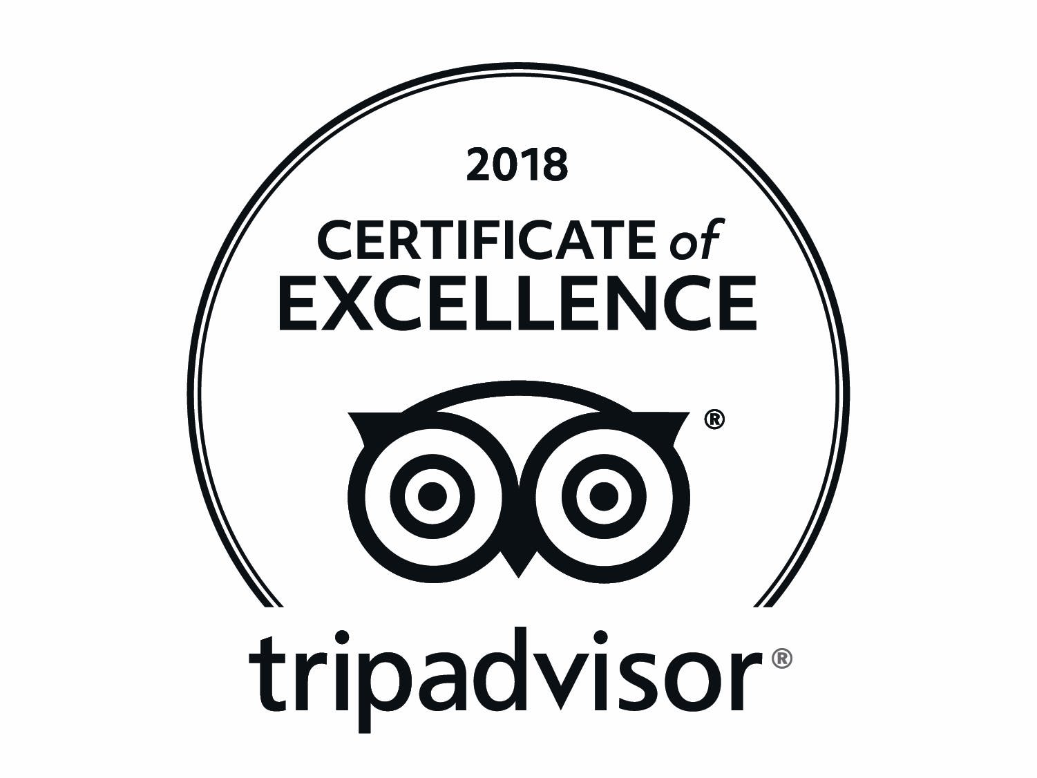 Tripadvisor Certificate of Excellence 2018 for Gleesons Restaurant & Rooms, Roscommon