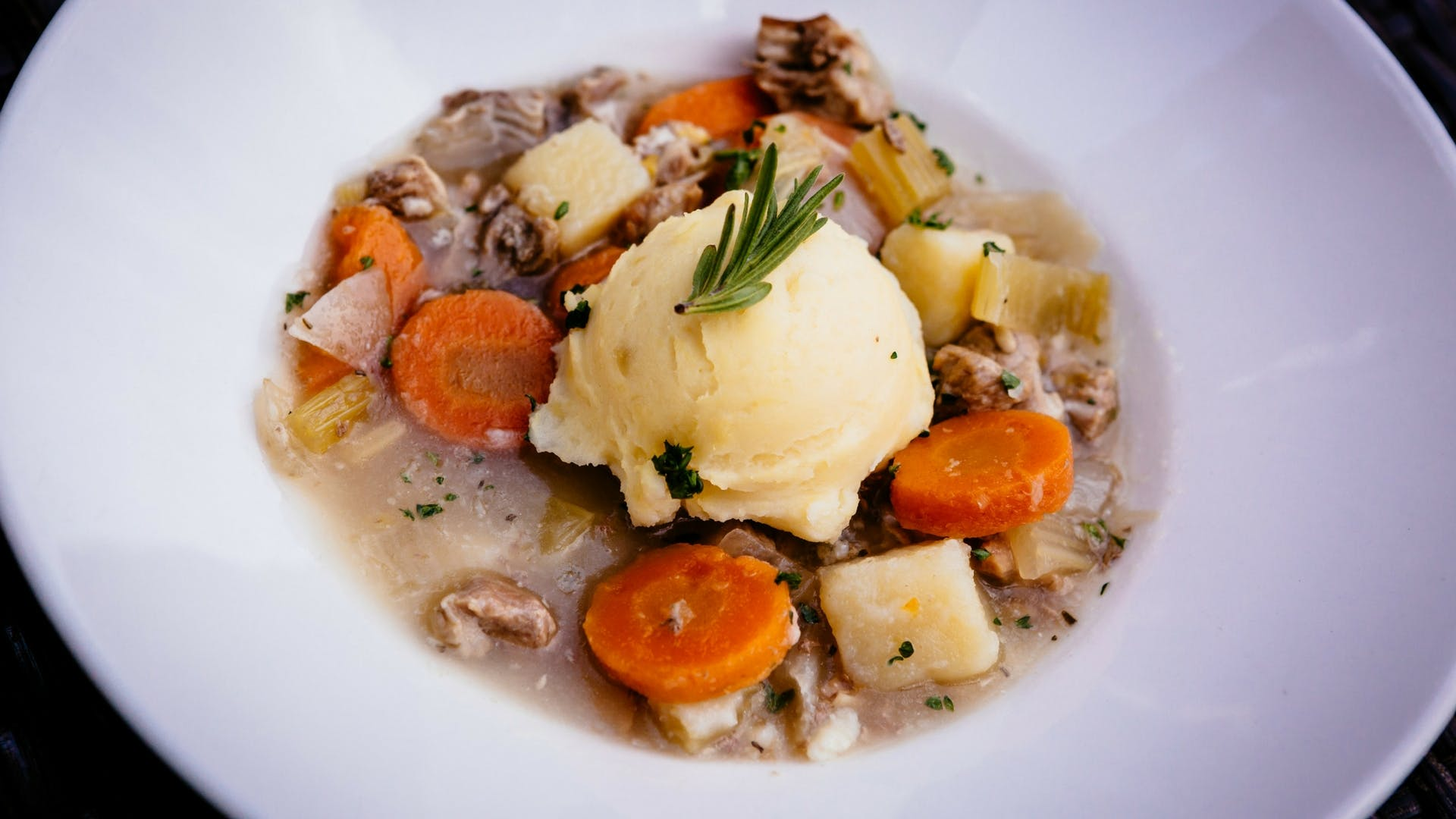 Signature lamb stew at Gleesons Restaurant & Rooms, Roscommon