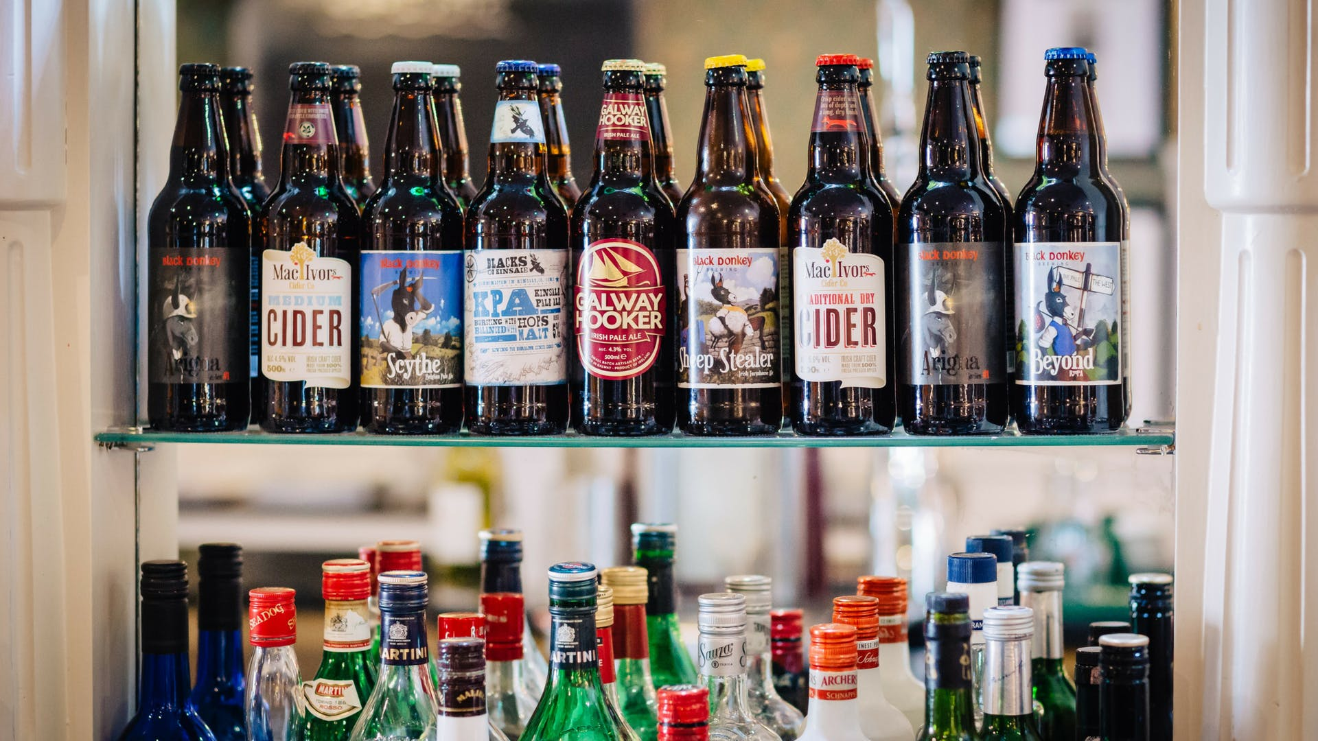 Local craft beers at Gleesons Restaurant & Rooms, Roscommon