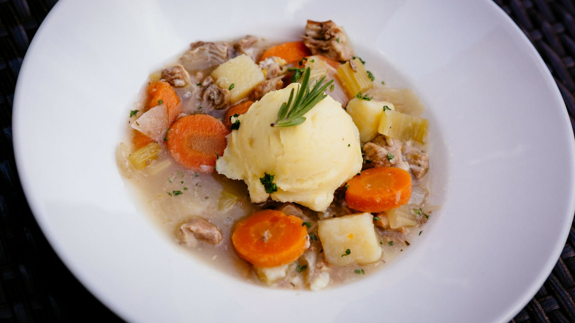 Roscommon lamb stew at Gleesons Restaurant & Rooms, Roscommon