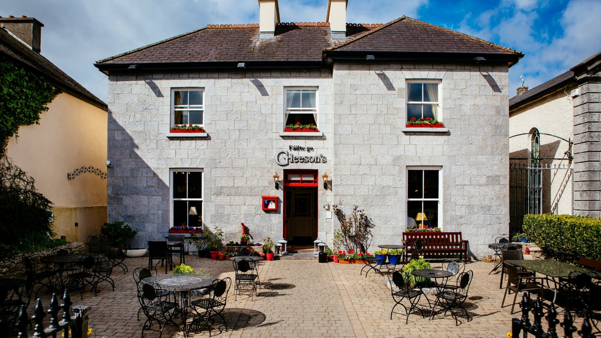 Front exterior at Gleesons Restaurant & Rooms, Roscommon