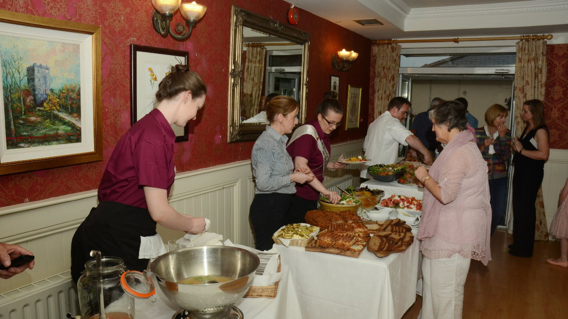 Event catering at Gleesons Restaurant & Rooms, Roscommon