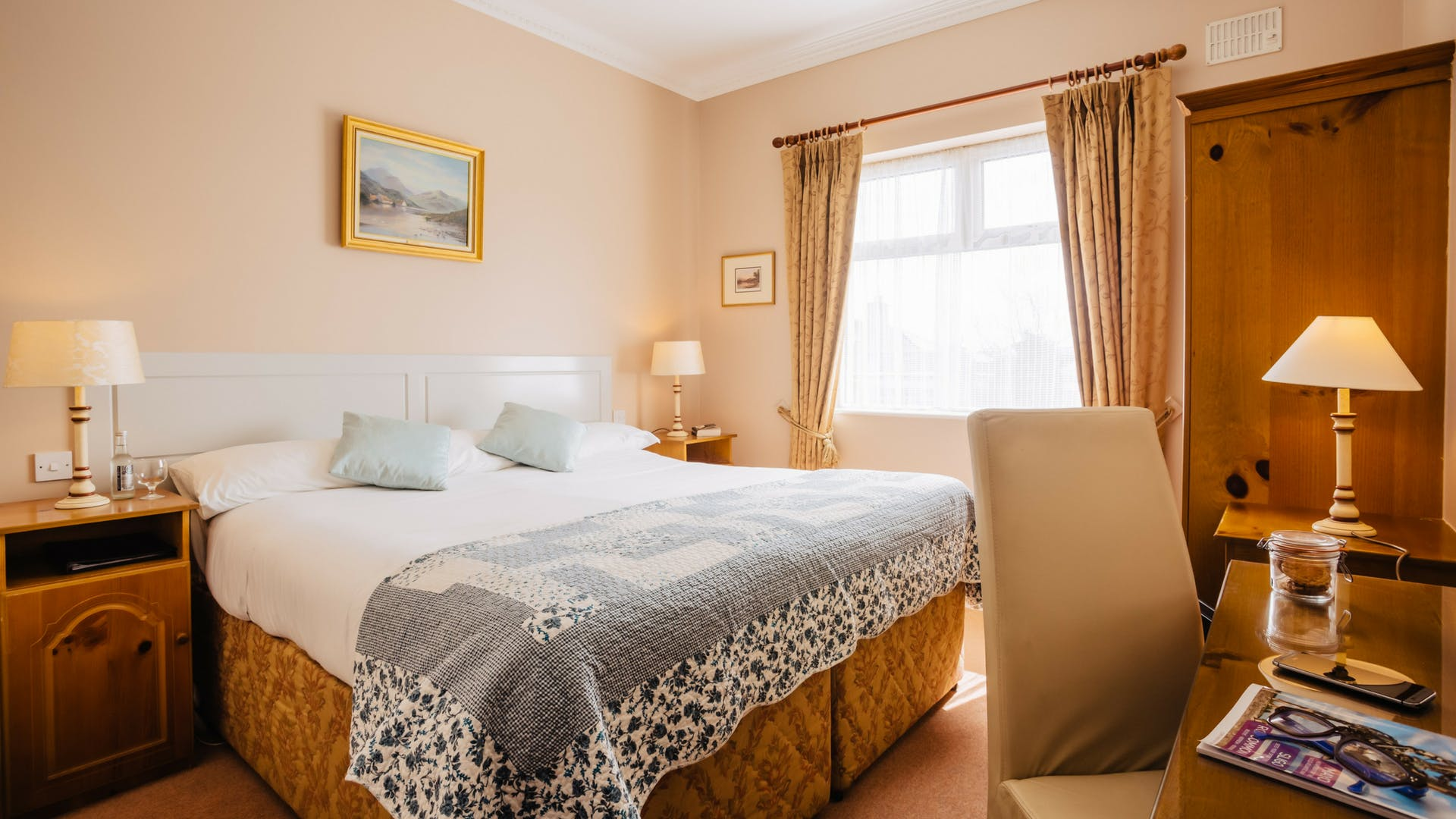 Stay in a double room at Gleesons Restaurant & Rooms, Roscommon