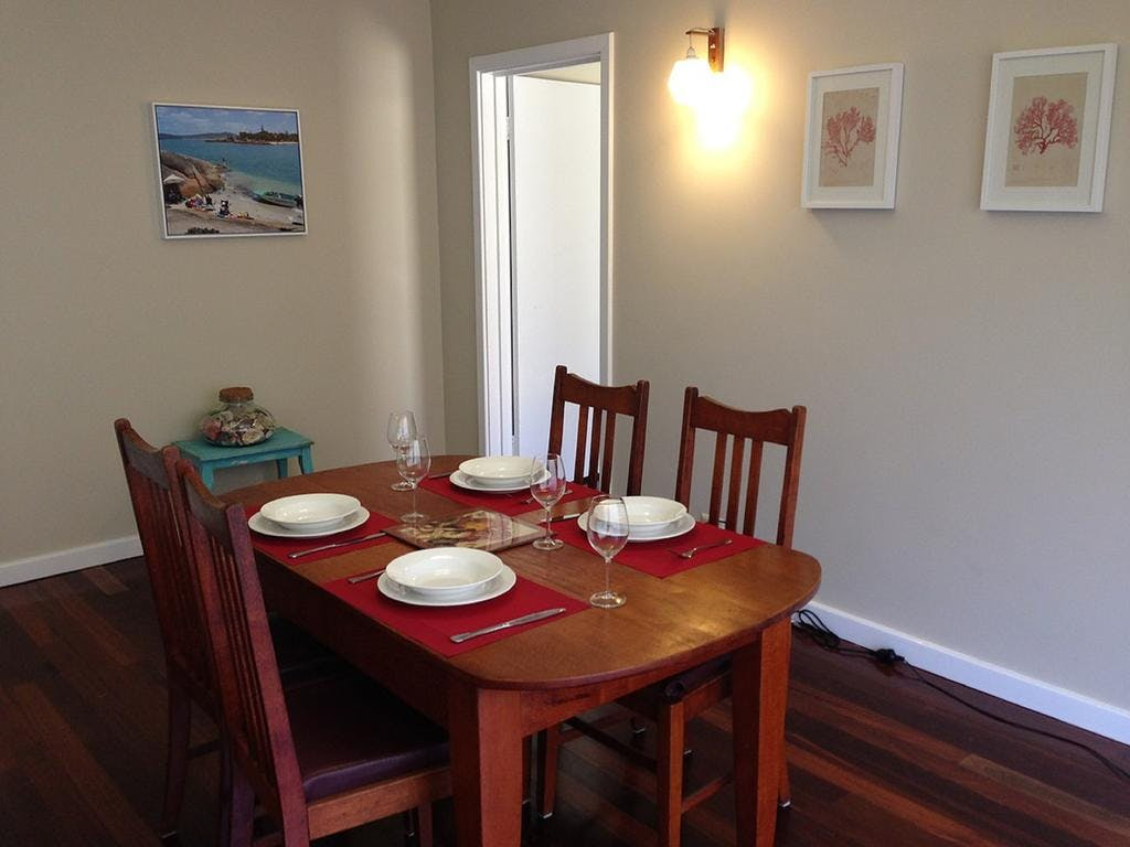 Dining area Cockleshell Cottage