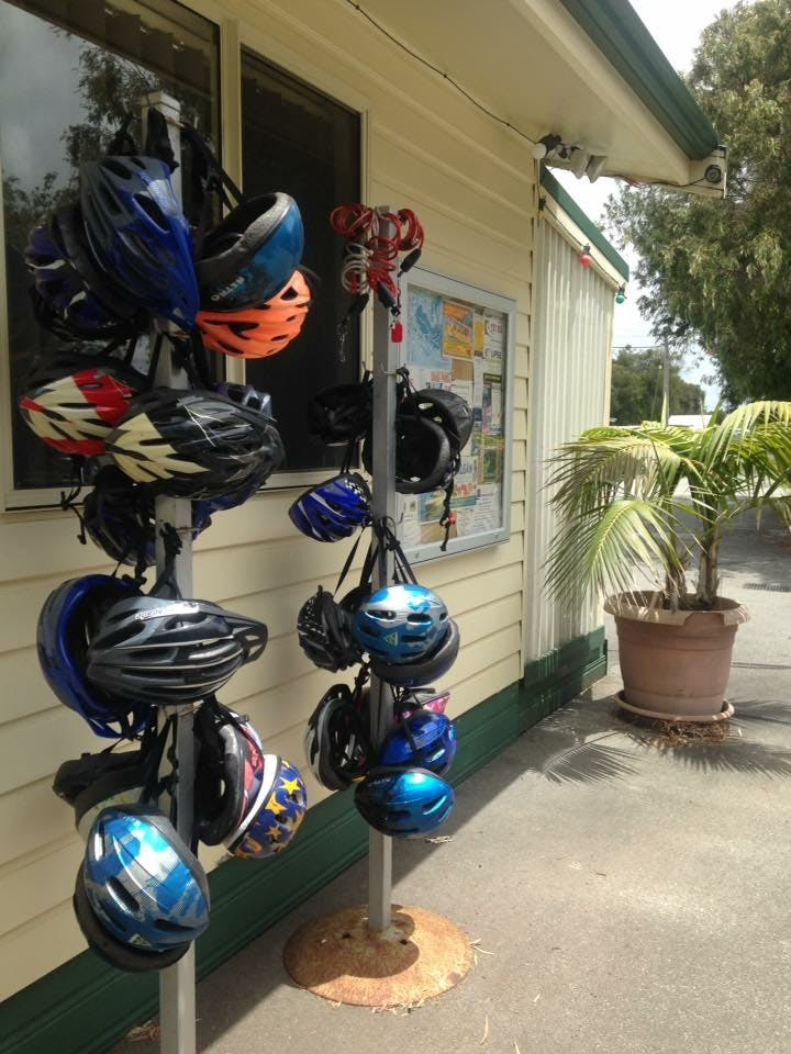 Free bike helmets to use with all bike hire.