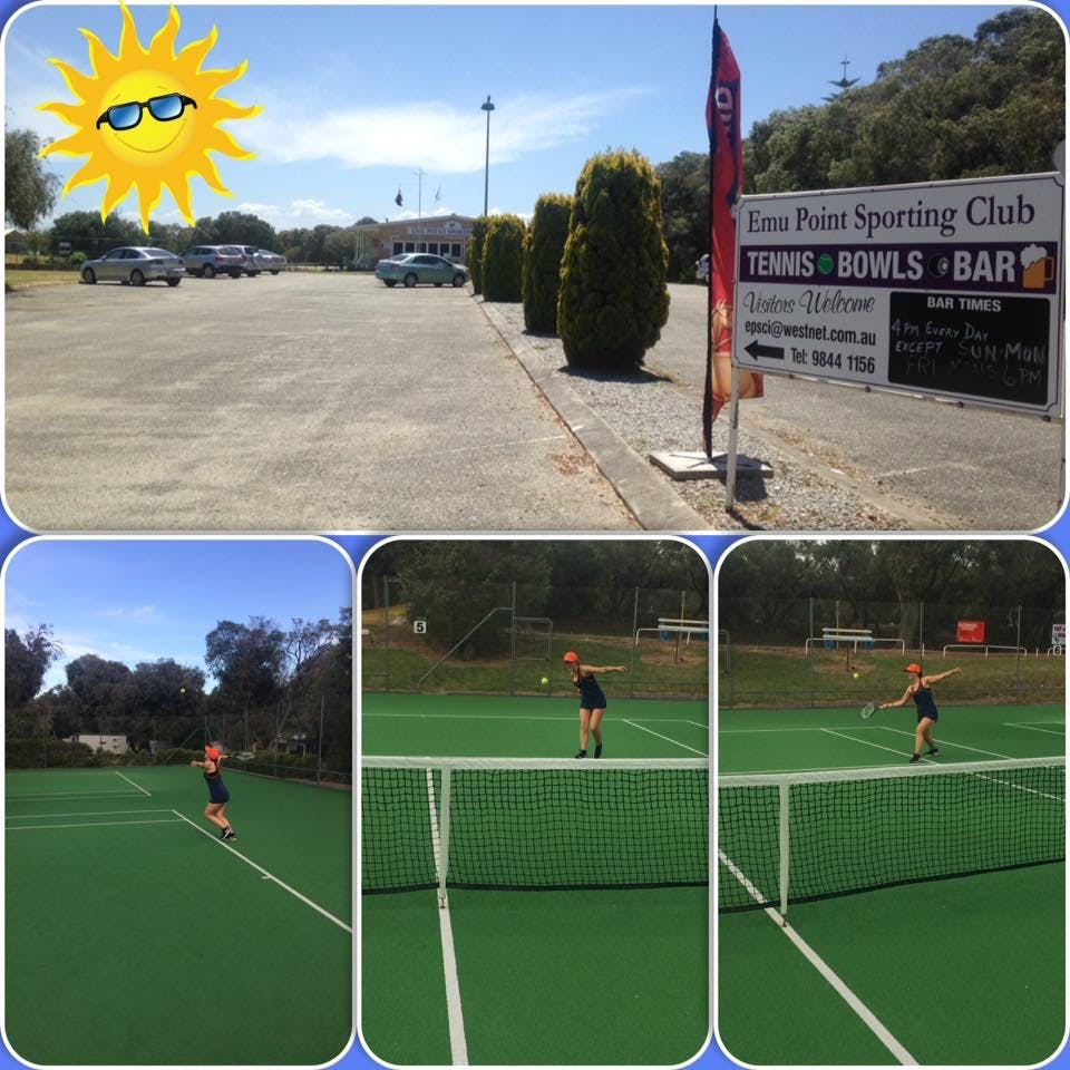 Tennis courts and equipment available to hire from us in the office.