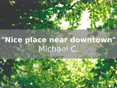 "Hotel review by Michael C. states ""Nice place near downtown."" Links to Tripadvisor review."