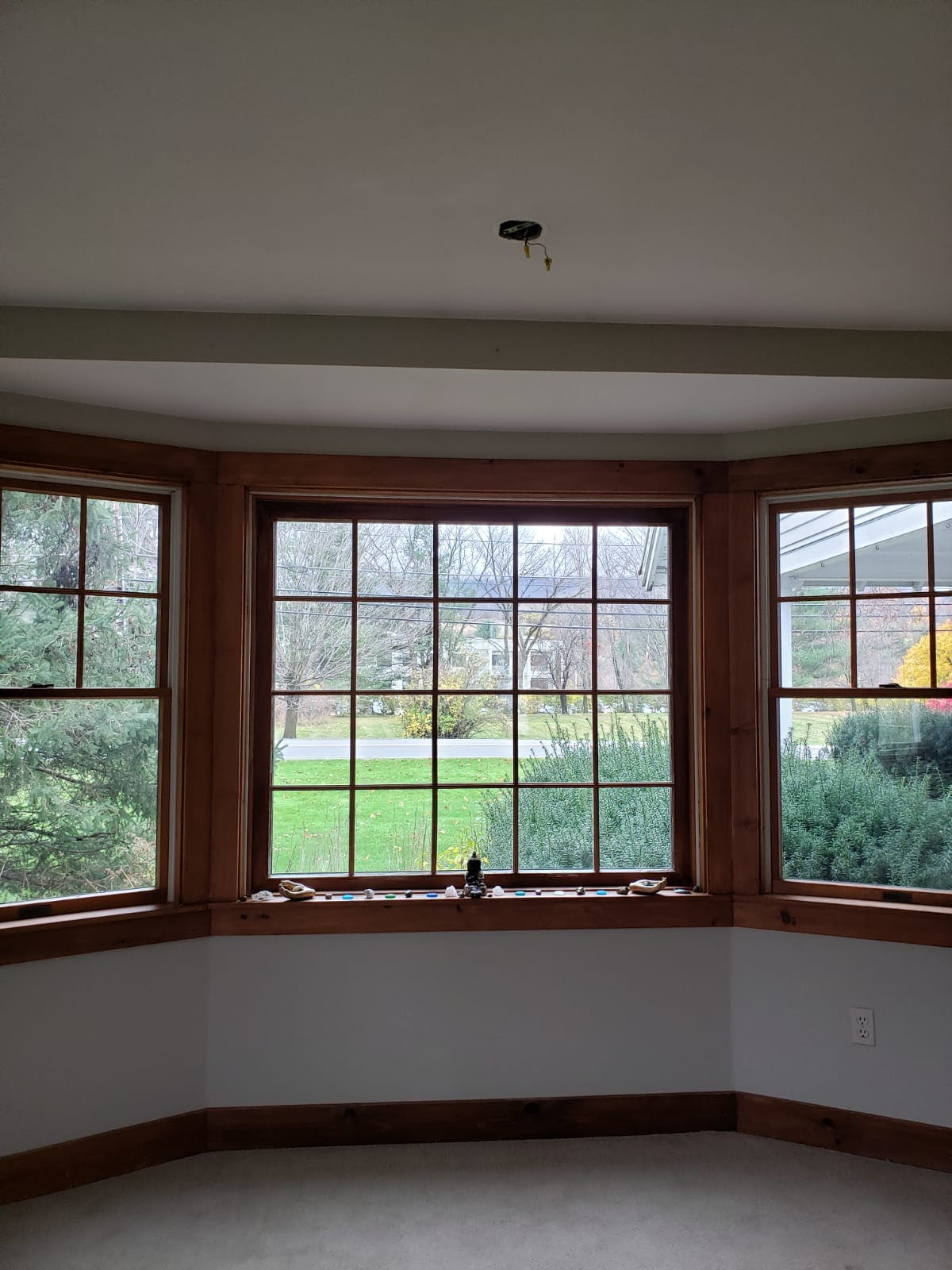 Image of three windows in the Suites.