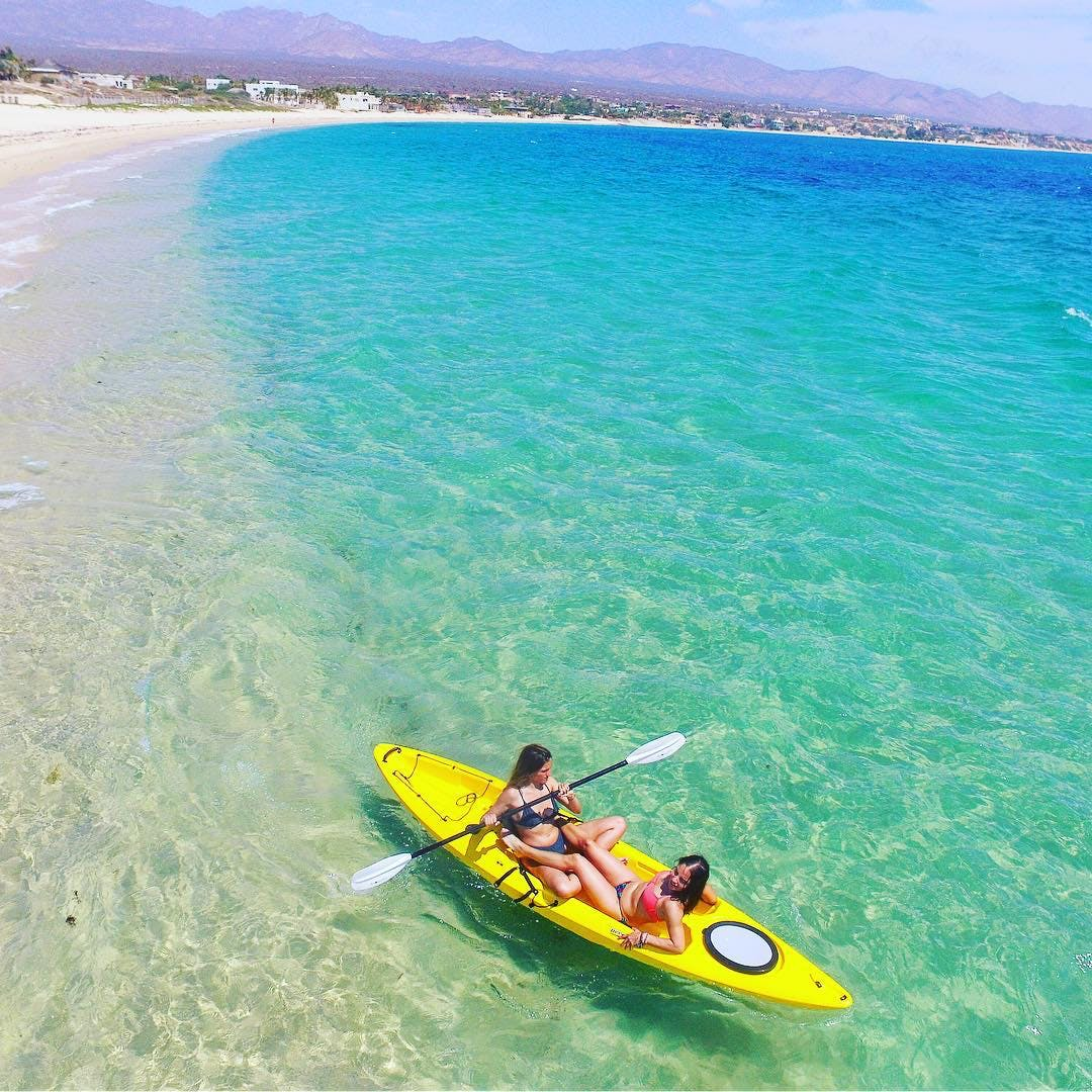 take a free kayak and see La Ventana - for our guests it is free
