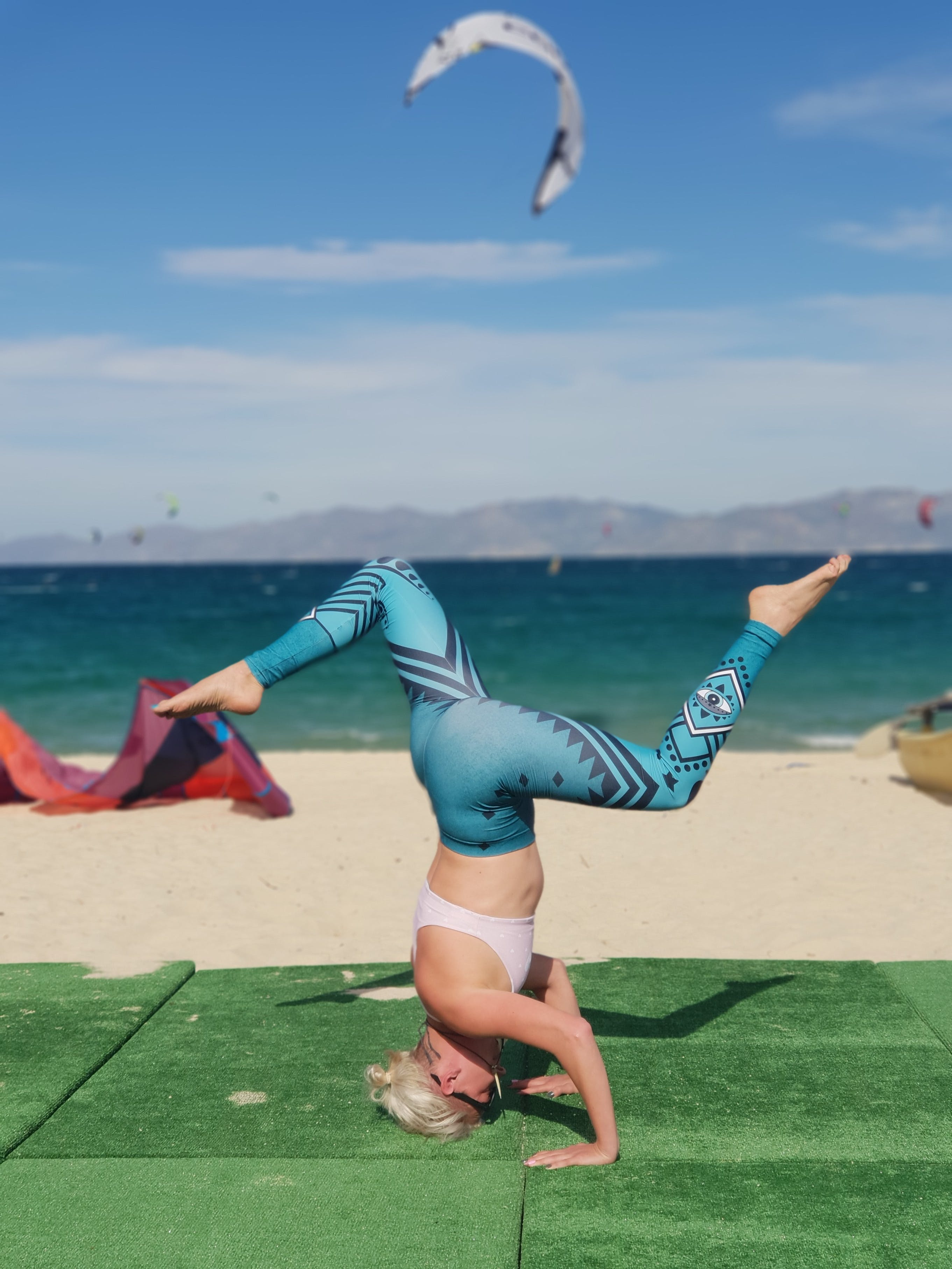Yoga on the beach in La Ventana, ChiloCHill